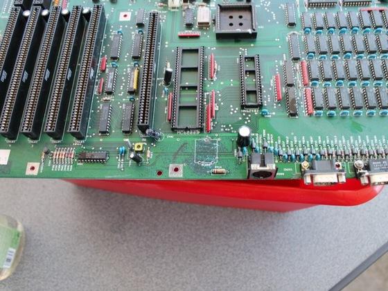 Amiga 2000 mit Akkuschaden